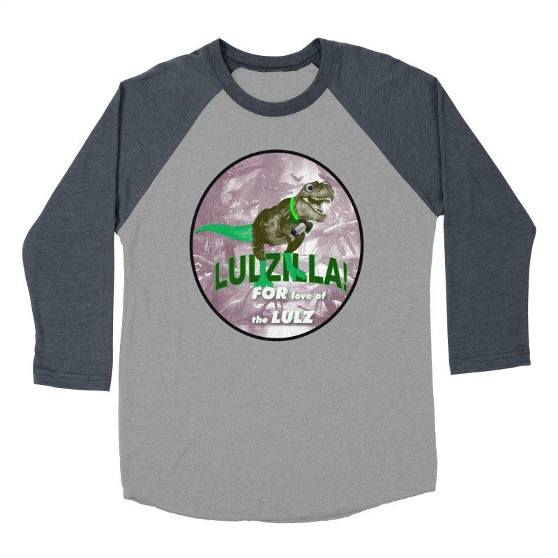 Lulzilla Logo Women's Baseball Triblend Longsleeve T-Shirt by PGMercher  - A Pretty Good Merch Shop