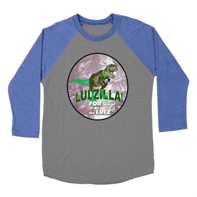 Lulzilla Logo Men's Baseball Triblend Longsleeve T-Shirt by PGMercher  - A Pretty Good Merch Shop