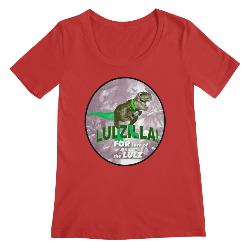 Lulzilla Logo Women's Regular Scoop Neck by PGMercher  - A Pretty Good Merch Shop