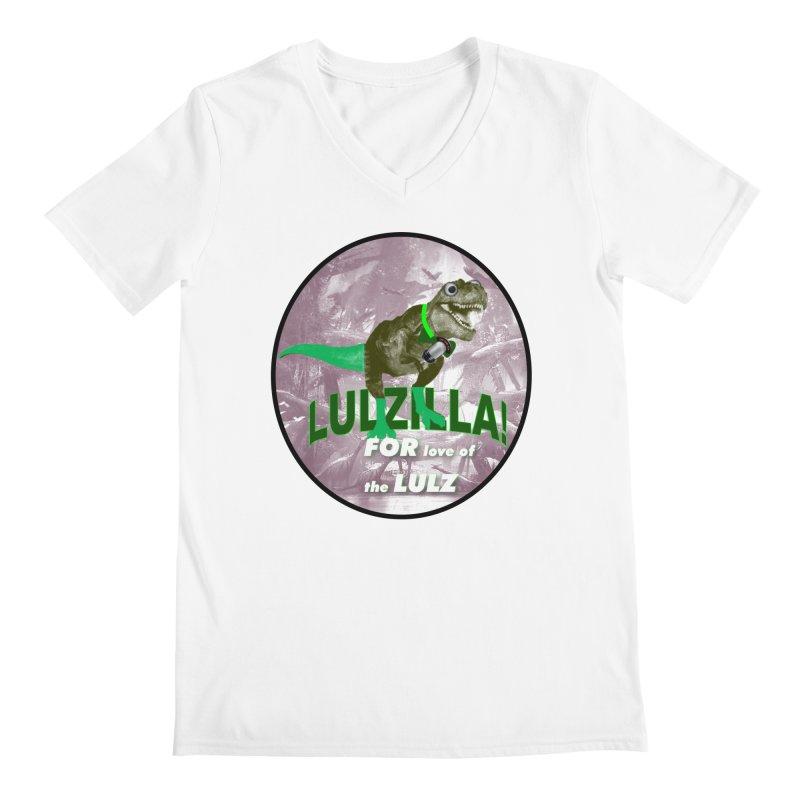 Lulzilla Logo Men's V-Neck by PGMercher  - A Pretty Good Merch Shop