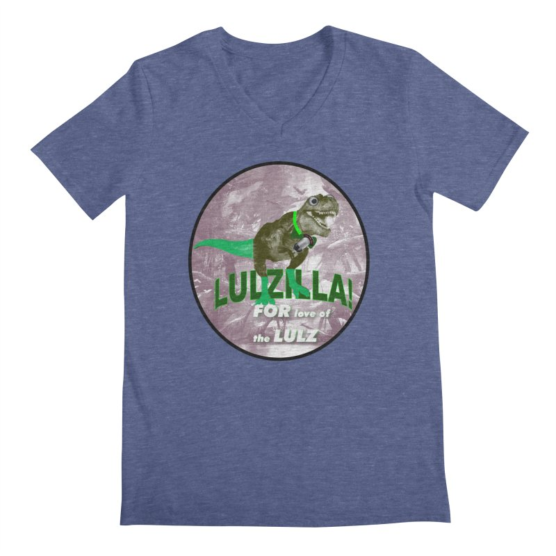Lulzilla Logo Men's Regular V-Neck by PGMercher  - A Pretty Good Merch Shop