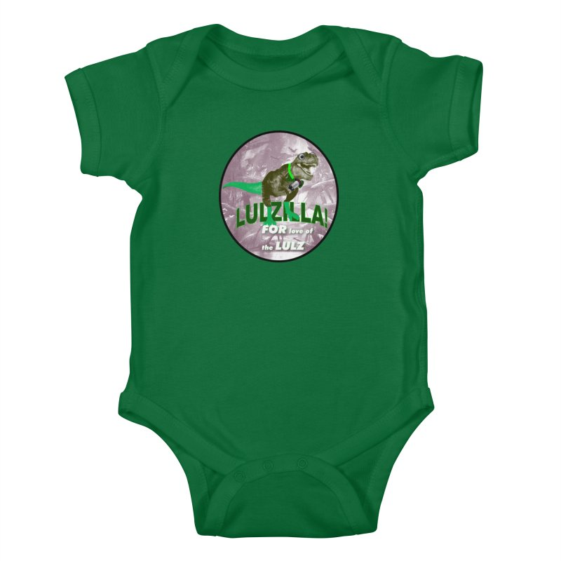 Lulzilla Logo Kids Baby Bodysuit by PGMercher  - A Pretty Good Merch Shop
