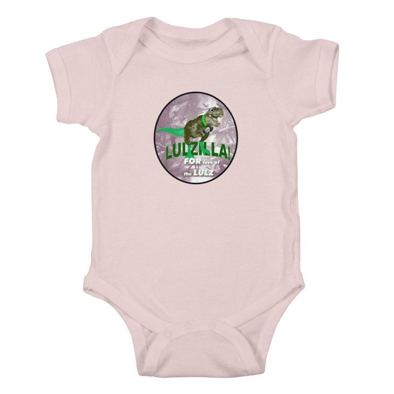 Lulzilla Logo Kids Baby Bodysuit by PGMercher  - A Pretty Good Merch Shop