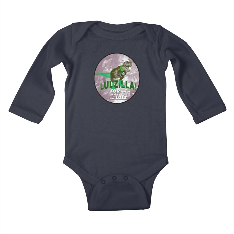 Lulzilla Logo Kids Baby Longsleeve Bodysuit by PGMercher  - A Pretty Good Merch Shop