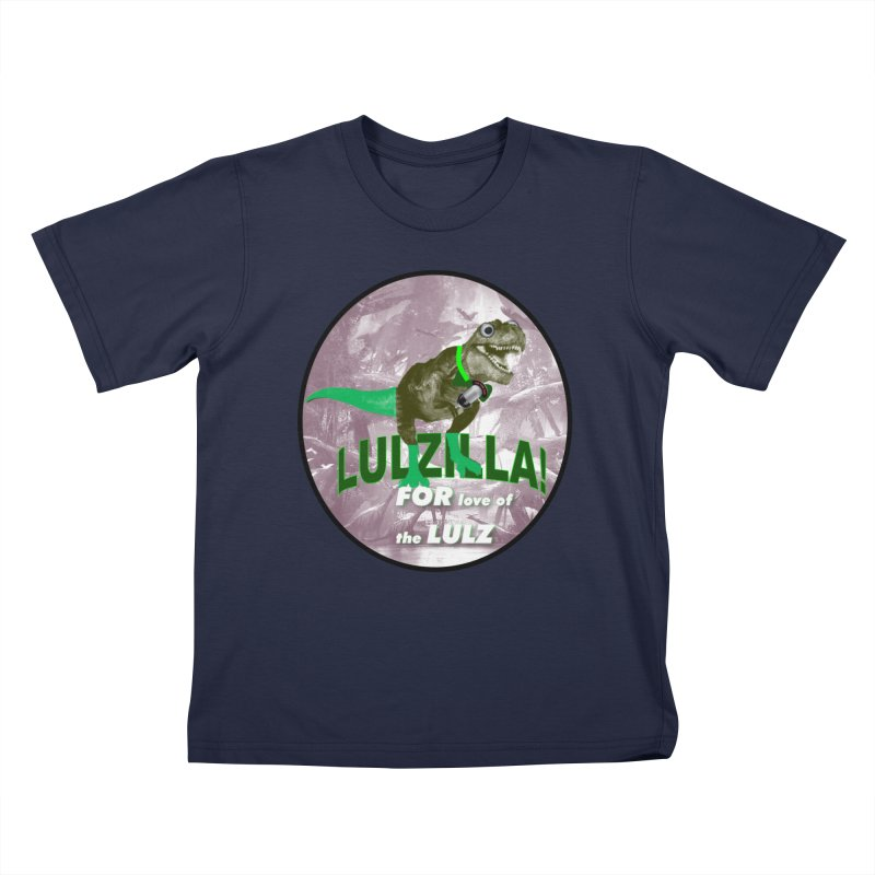 Lulzilla Logo Kids T-Shirt by PGMercher  - A Pretty Good Merch Shop