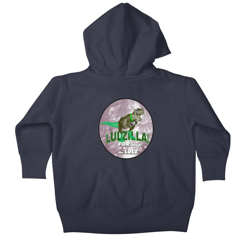 Lulzilla Logo Kids Baby Zip-Up Hoody by PGMercher  - A Pretty Good Merch Shop
