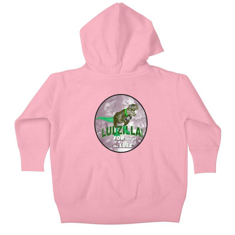 Lulzilla Logo Kids Baby Zip-Up Hoody by PGMercher  - A Pretty Good Merch Shop