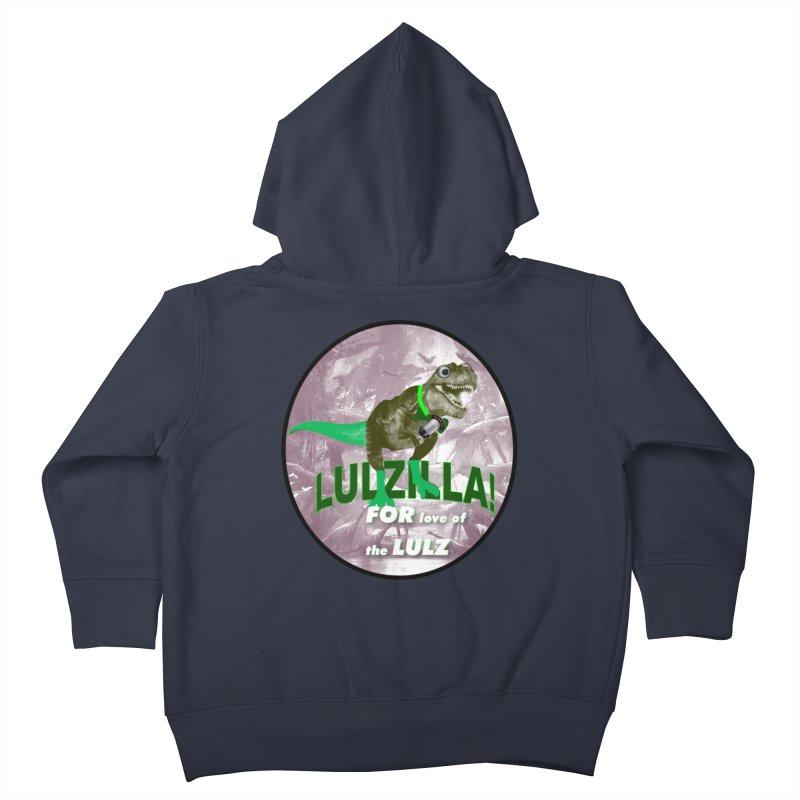 Lulzilla Logo Kids Toddler Zip-Up Hoody by PGMercher  - A Pretty Good Merch Shop