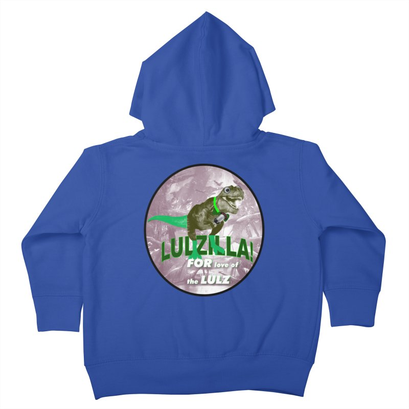 Lulzilla Logo Kids Toddler Zip-Up Hoody by PGMercher  - A Pretty Good Merch Shop
