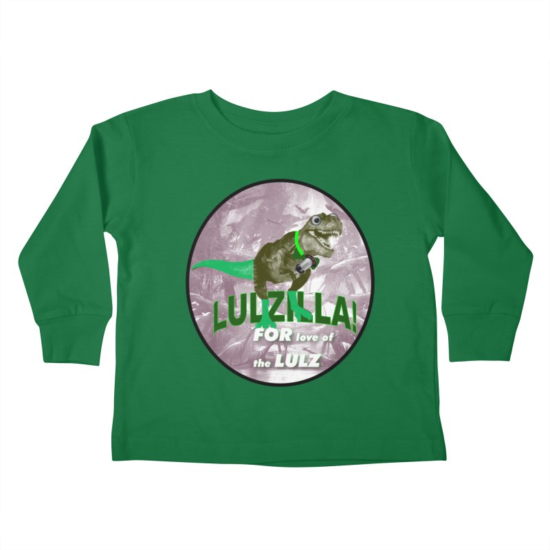 Lulzilla Logo Kids Toddler Longsleeve T-Shirt by PGMercher  - A Pretty Good Merch Shop