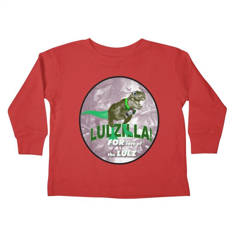 Lulzilla Logo Kids Toddler Longsleeve T-Shirt by PGMercher  - A Pretty Good Merch Shop