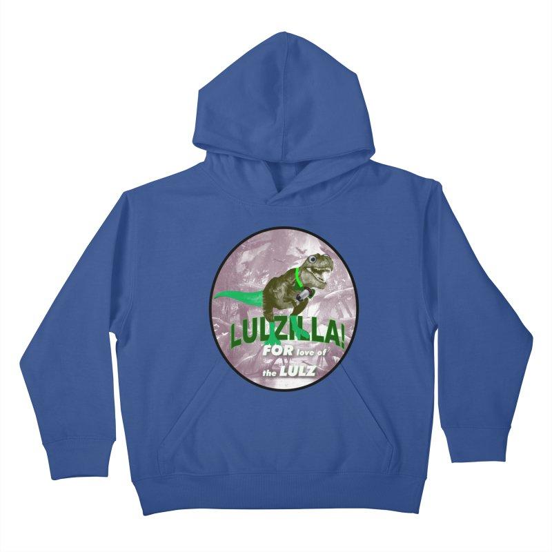 Lulzilla Logo Kids Pullover Hoody by PGMercher  - A Pretty Good Merch Shop