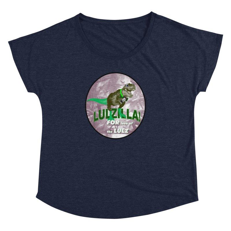 Lulzilla Logo Women's Dolman Scoop Neck by PGMercher  - A Pretty Good Merch Shop