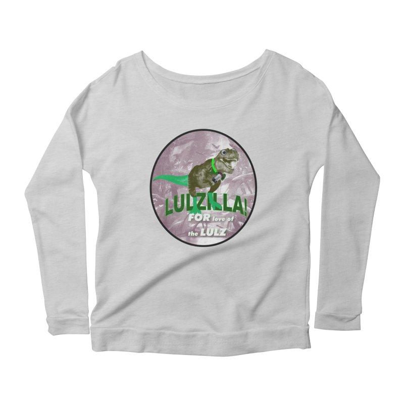 Lulzilla Logo Women's Scoop Neck Longsleeve T-Shirt by PGMercher  - A Pretty Good Merch Shop