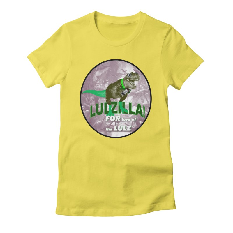Lulzilla Logo Women's Fitted T-Shirt by PGMercher  - A Pretty Good Merch Shop