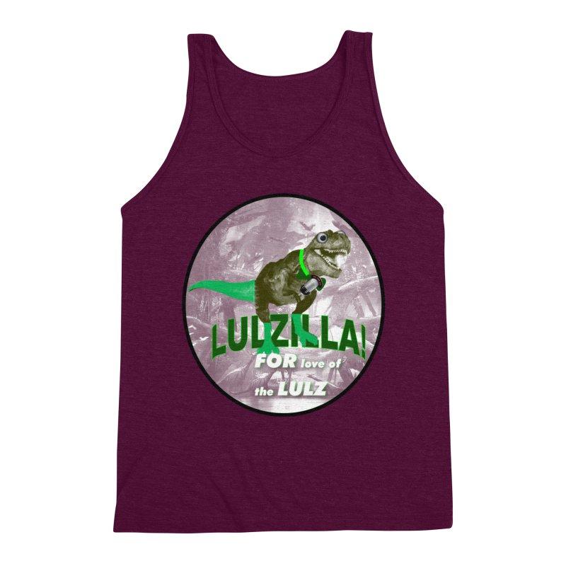 Lulzilla Logo Men's Triblend Tank by PGMercher  - A Pretty Good Merch Shop