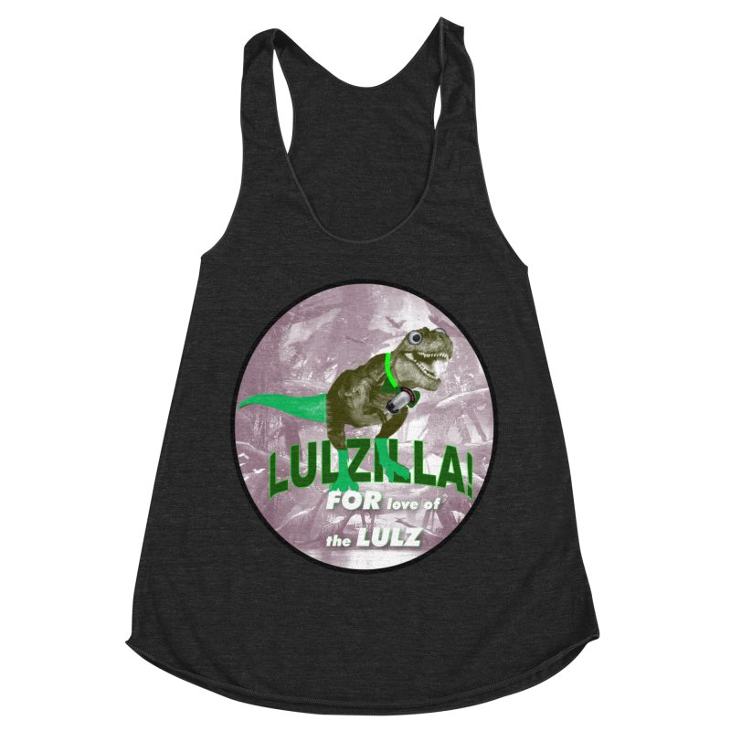 Lulzilla Logo Women's Racerback Triblend Tank by PGMercher  - A Pretty Good Merch Shop