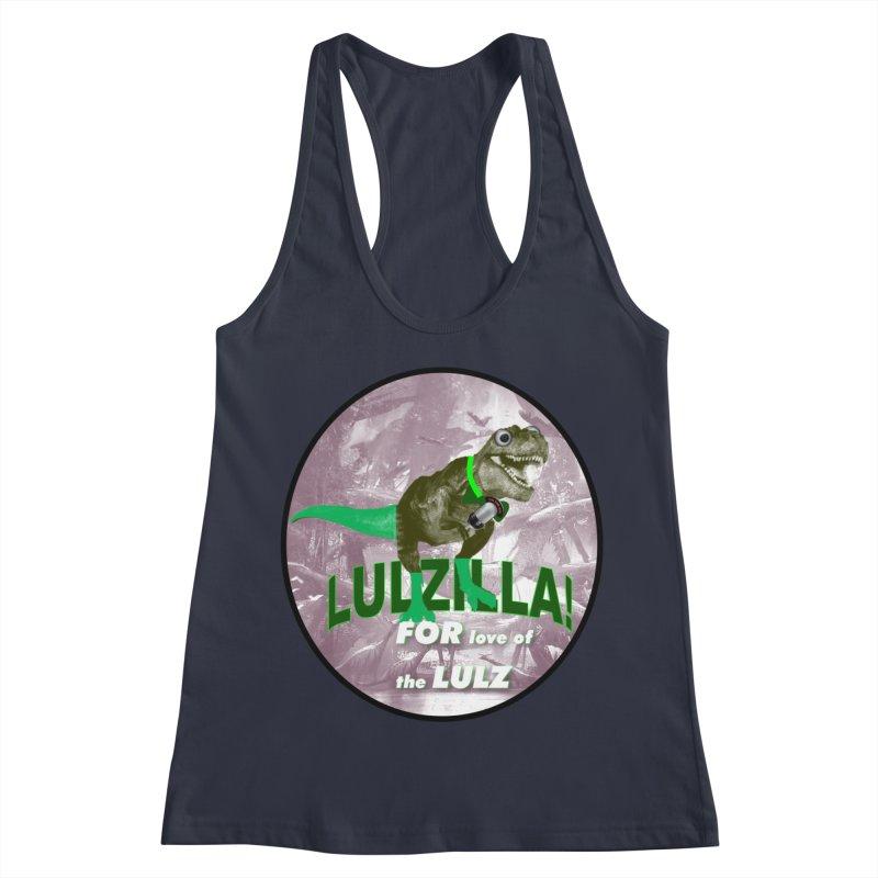 Lulzilla Logo Women's Racerback Tank by PGMercher  - A Pretty Good Merch Shop