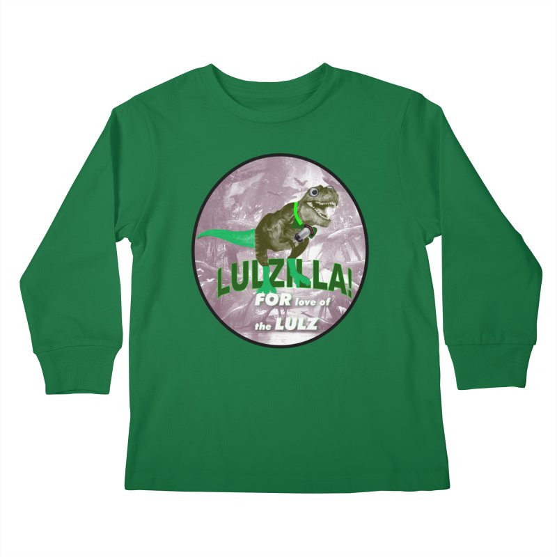 Lulzilla Logo Kids Longsleeve T-Shirt by PGMercher  - A Pretty Good Merch Shop