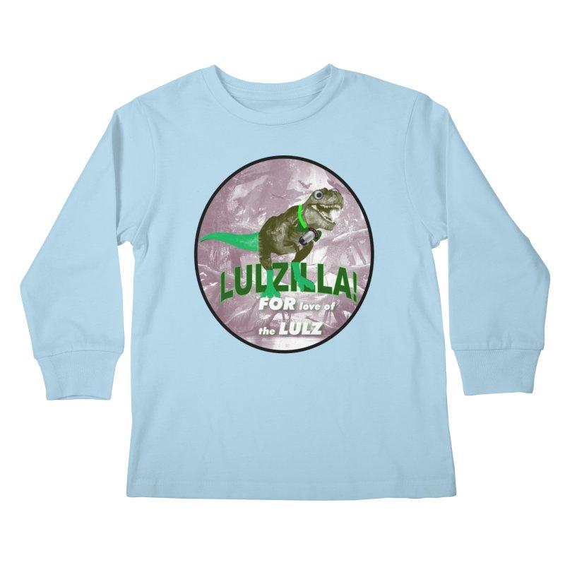 Lulzilla Logo Kids Longsleeve T-Shirt by PGMercher  - A Pretty Good Merch Shop