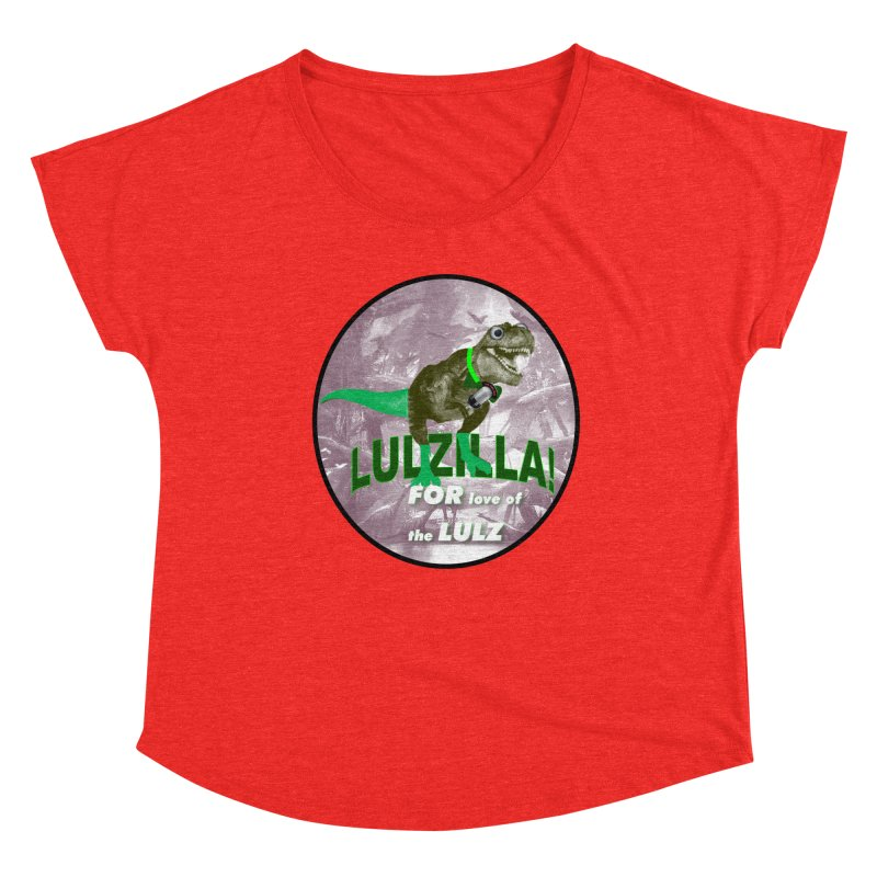Lulzilla Logo Women's Scoop Neck by PGMercher  - A Pretty Good Merch Shop