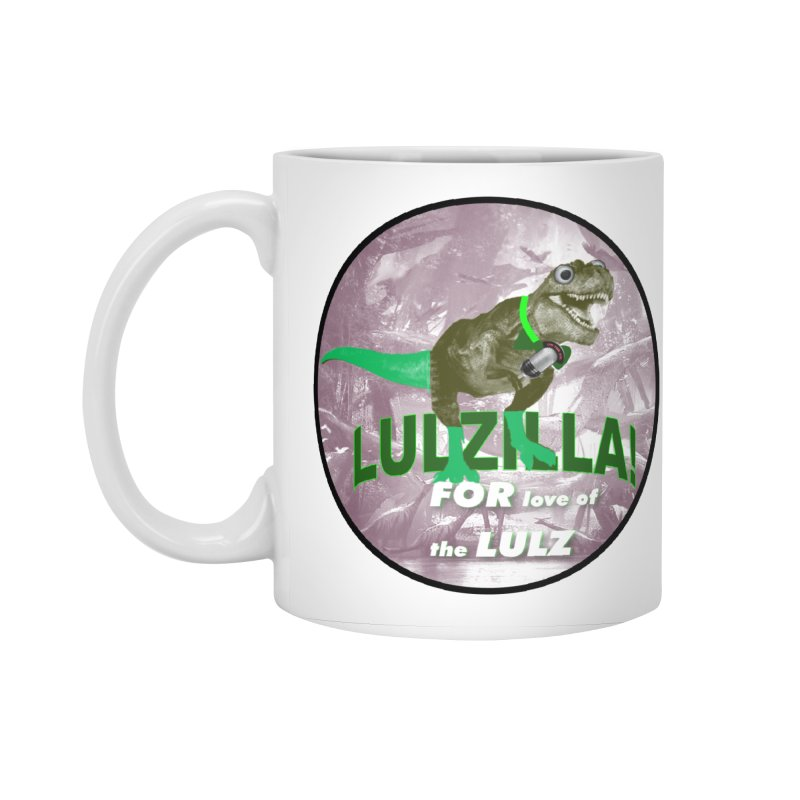 Lulzilla Logo Accessories Standard Mug by PGMercher  - A Pretty Good Merch Shop