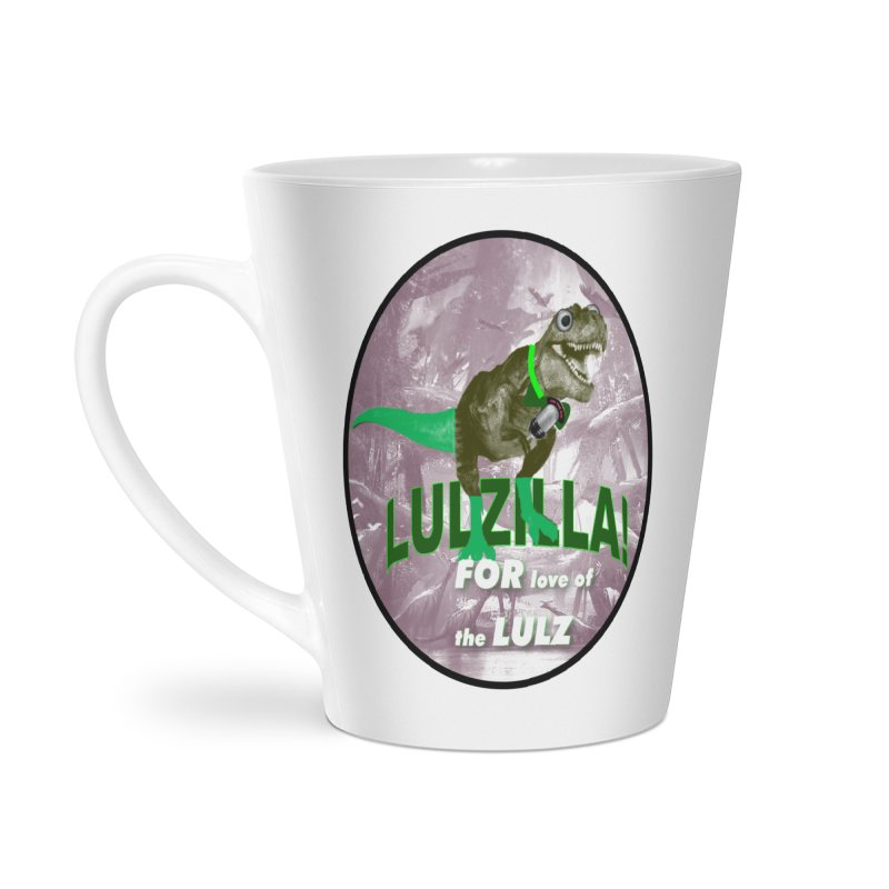 Lulzilla Logo Accessories Latte Mug by PGMercher  - A Pretty Good Merch Shop