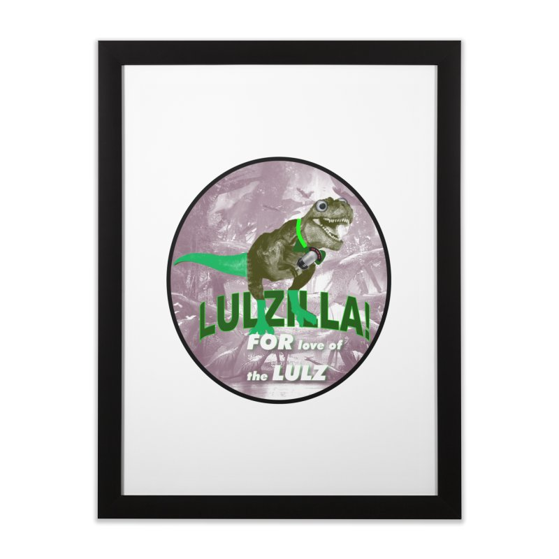 Lulzilla Logo Home Framed Fine Art Print by PGMercher  - A Pretty Good Merch Shop