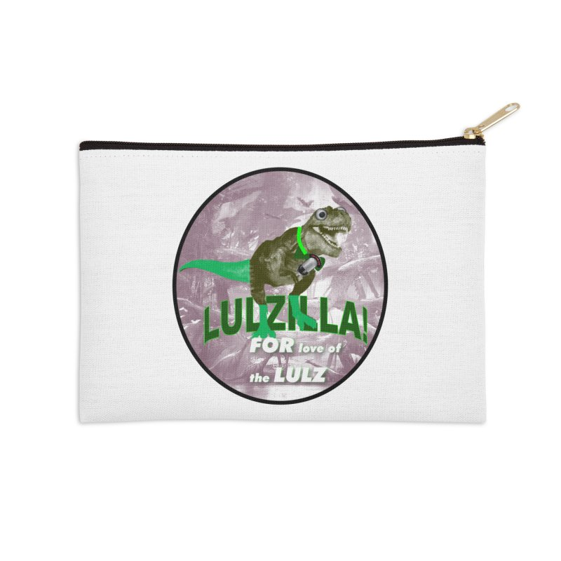 Lulzilla Logo Accessories Zip Pouch by PGMercher  - A Pretty Good Merch Shop