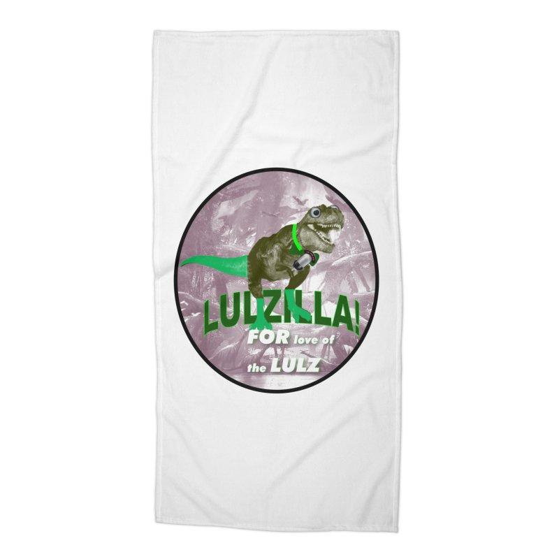 Lulzilla Logo Accessories Beach Towel by PGMercher  - A Pretty Good Merch Shop