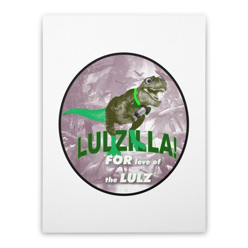 Lulzilla Logo Home Stretched Canvas by PGMercher  - A Pretty Good Merch Shop