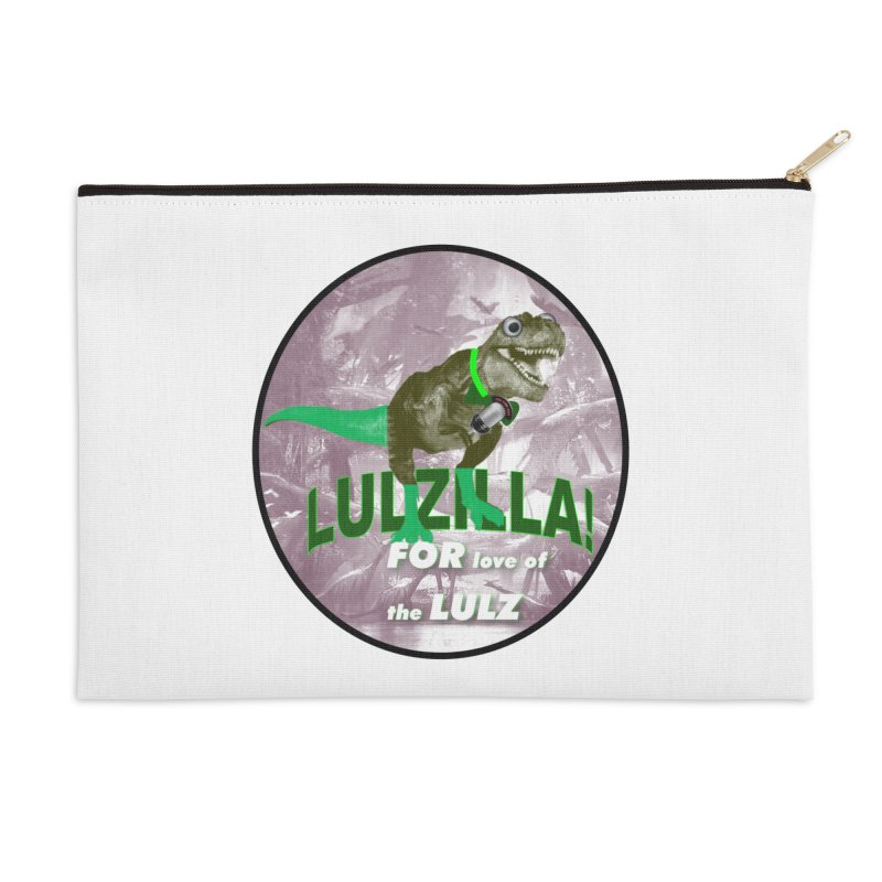 Lulzilla Logo Accessories Zip Pouch by PGMercher  - A Pretty Good Merch Shop