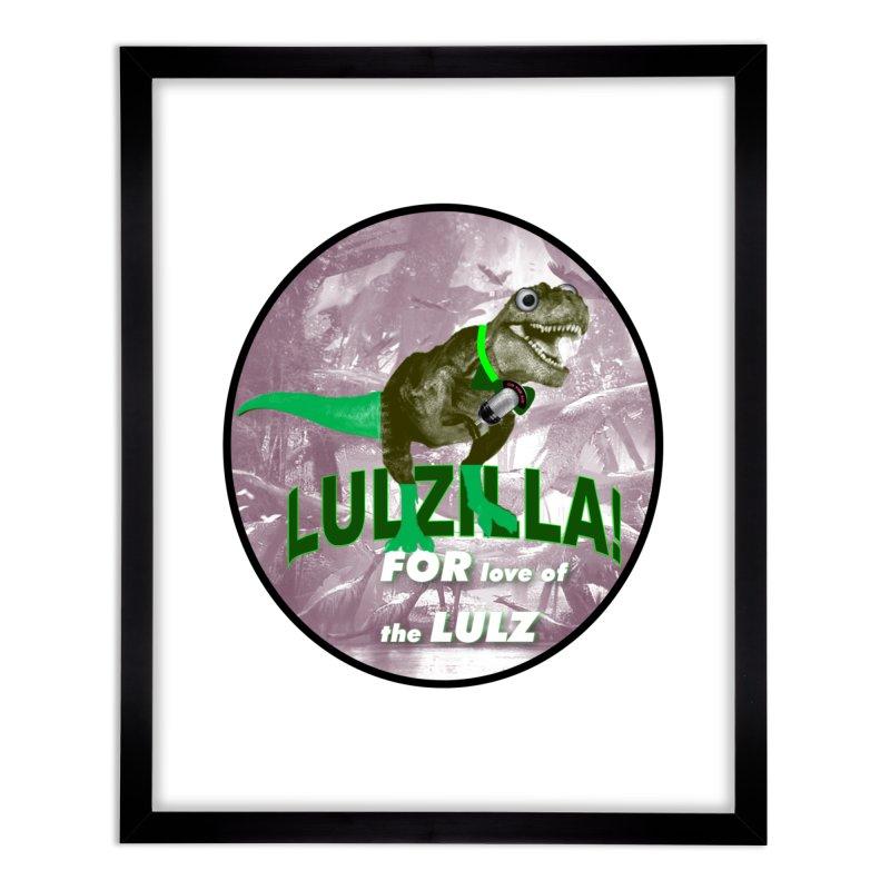 Lulzilla Logo Home Framed Fine Art Print by PGMercher  - A Pretty Good Merch Shop