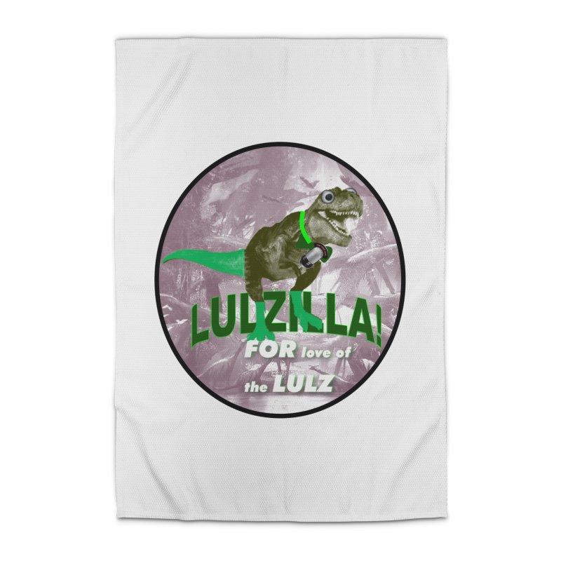 Lulzilla Logo Home Rug by PGMercher  - A Pretty Good Merch Shop