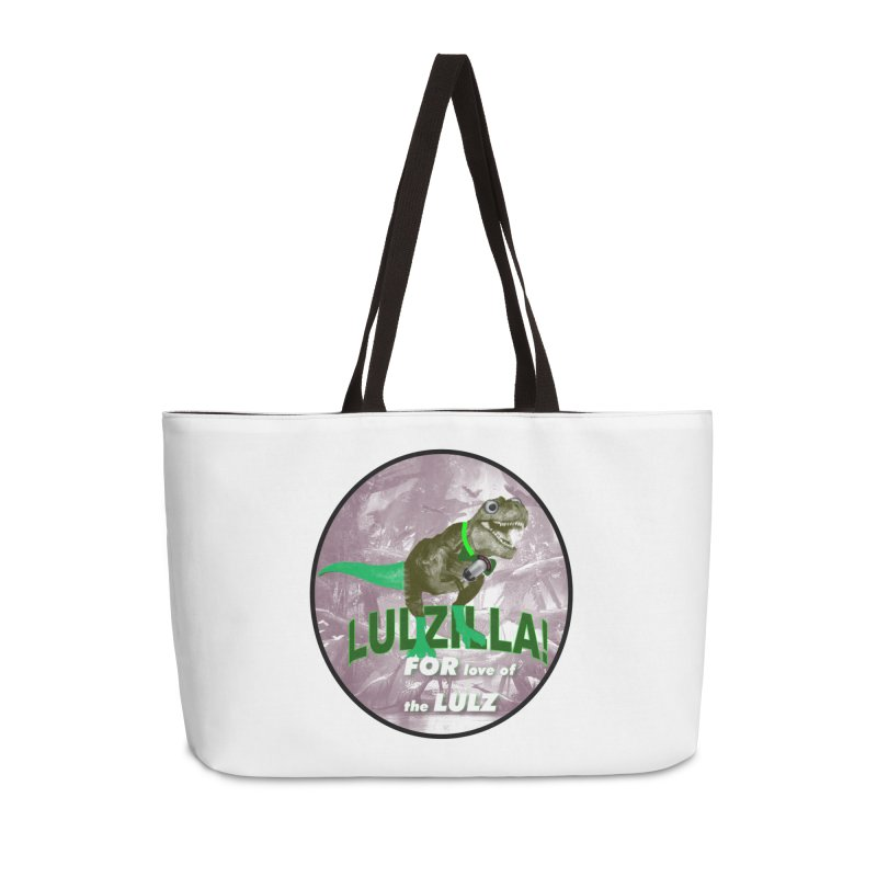 Lulzilla Logo Accessories Weekender Bag Bag by PGMercher  - A Pretty Good Merch Shop