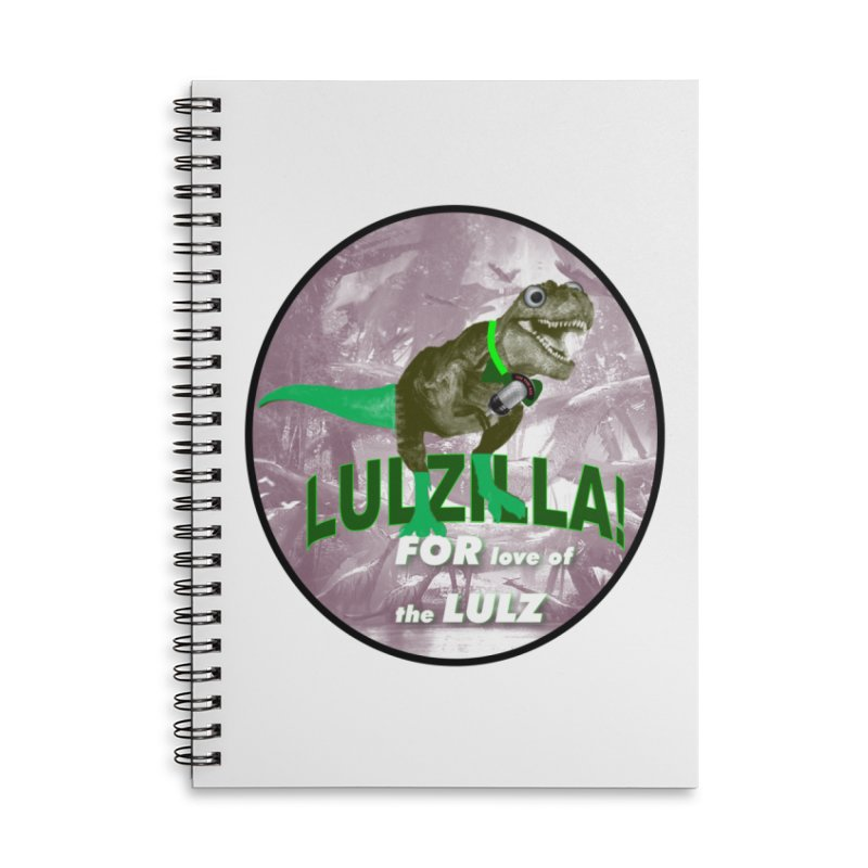 Lulzilla Logo Accessories Lined Spiral Notebook by PGMercher  - A Pretty Good Merch Shop
