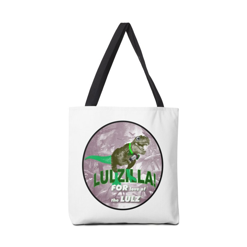 Lulzilla Logo Accessories Tote Bag Bag by PGMercher  - A Pretty Good Merch Shop