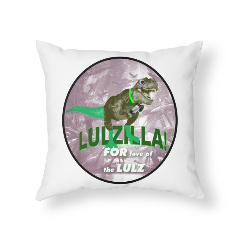Lulzilla Logo Home Throw Pillow by PGMercher  - A Pretty Good Merch Shop