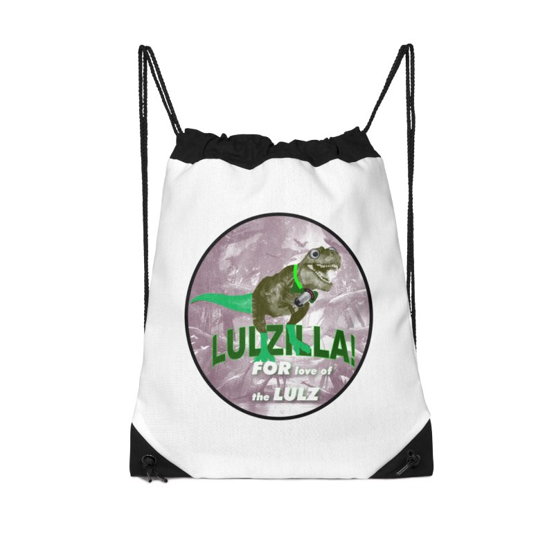 Lulzilla Logo Accessories Drawstring Bag Bag by PGMercher  - A Pretty Good Merch Shop
