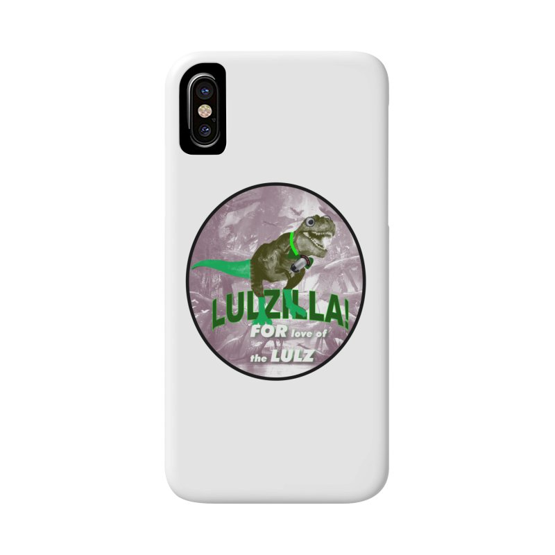 Lulzilla Logo Accessories Phone Case by PGMercher  - A Pretty Good Merch Shop