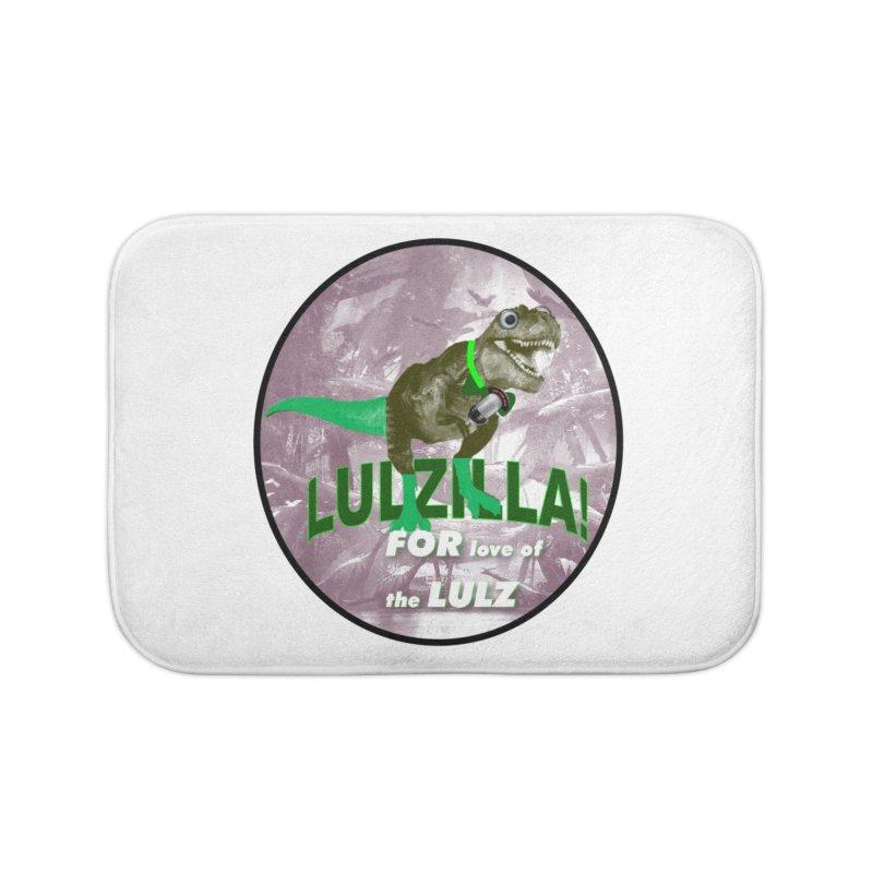 Lulzilla Logo Home Bath Mat by PGMercher  - A Pretty Good Merch Shop