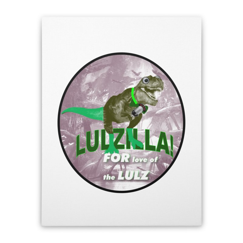 Lulzilla Logo Home Stretched Canvas by PGMercher  - A Pretty Good Merch Shop