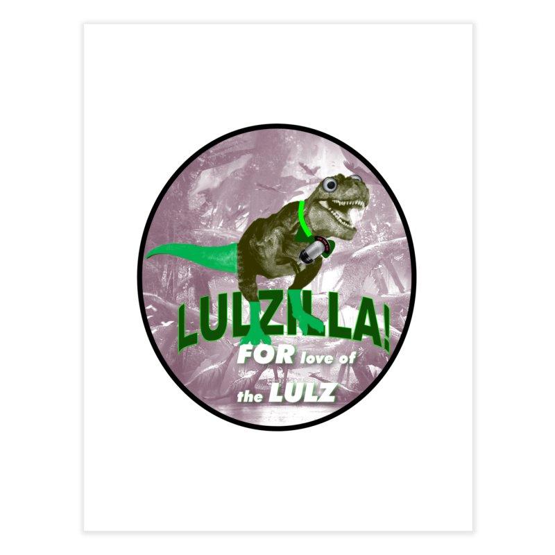 Lulzilla Logo Home Fine Art Print by PGMercher  - A Pretty Good Merch Shop