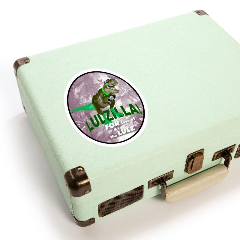 Lulzilla Logo Accessories Sticker by PGMercher  - A Pretty Good Merch Shop