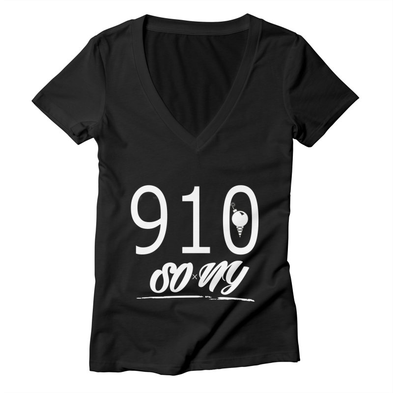 NC Area Code LIMITED S.O.xN.Y. Tee Women's V-Neck by SOxNY OFFICIAL SHOP
