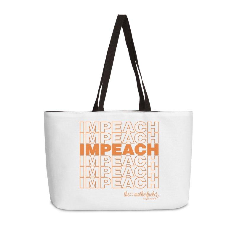 Impeach orange - NSFW Accessories Bag by random facts