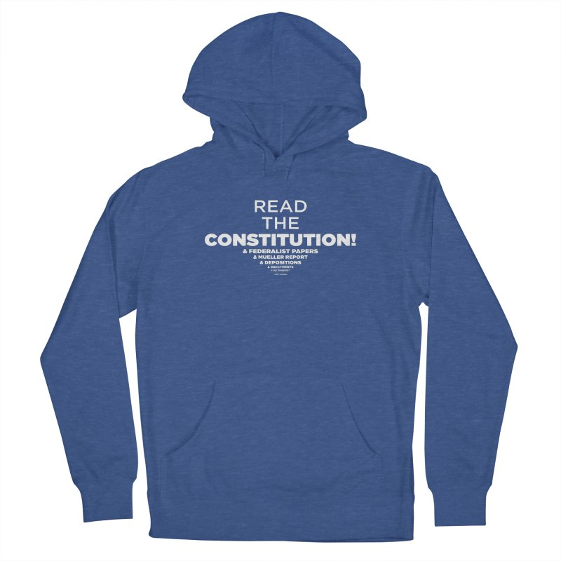 Read the constitution! (white text) Women's Pullover Hoody by random facts