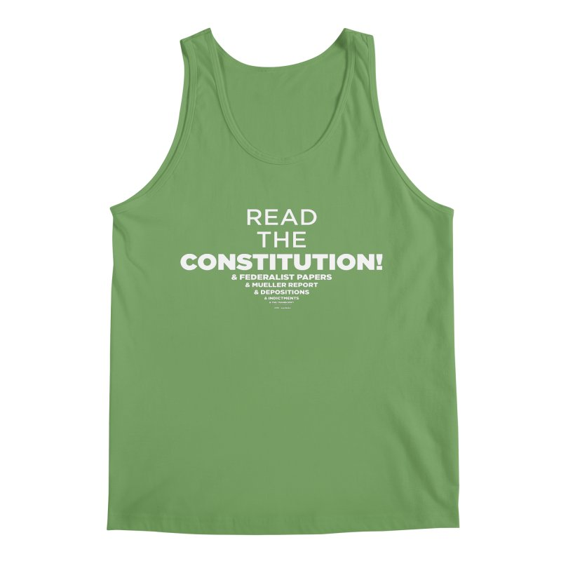 Read the constitution! (white text) Men's Tank by random facts