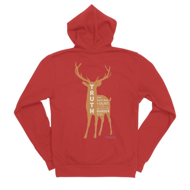 Truth is a hard deer to hunt. Men's Zip-Up Hoody by random facts
