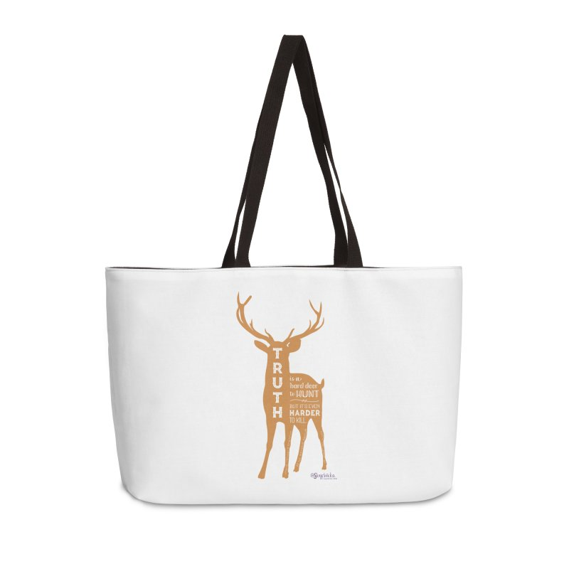 Truth is a hard deer to hunt. Accessories Bag by random facts
